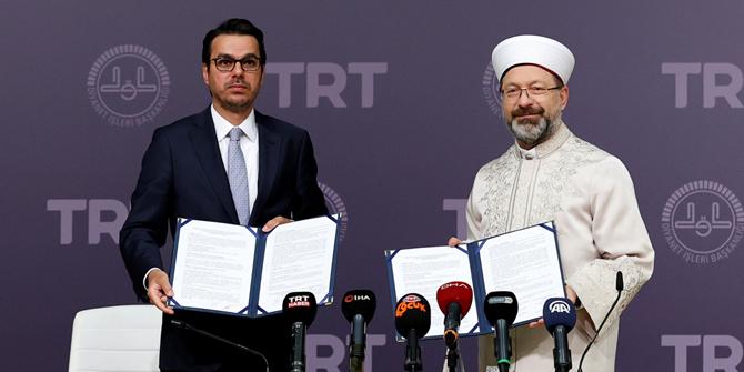 'TRT Diyanet Çocuk Kanalı' için imzalar atıldı