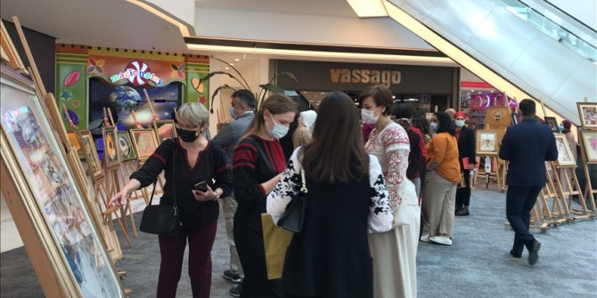 Foreign diplomats' spouses in Turkey hold art exhibit in capital Ankara
