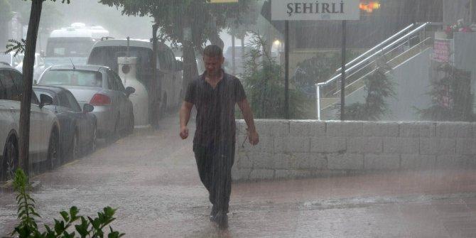 Edirne'de beklenen sağanak etkili oldu