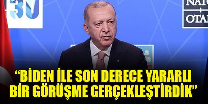Cumhurbaşkanı Erdoğan: Biden ile son derece yararlı bir görüşme gerçekleştirdik