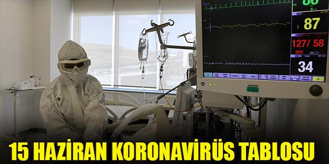 15 Haziran koronavirüs tablosu
