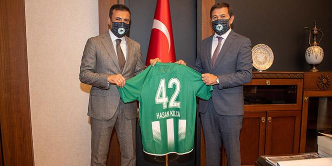 Konyaspor'dan Başkan Hasan Kılca'ya ziyaret