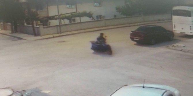 İki çocuk hırsız motosiklet çaldı