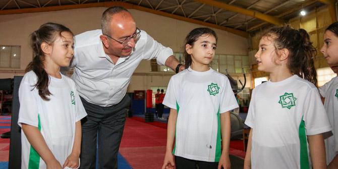 Çocuklar Meram'da spora doyacak