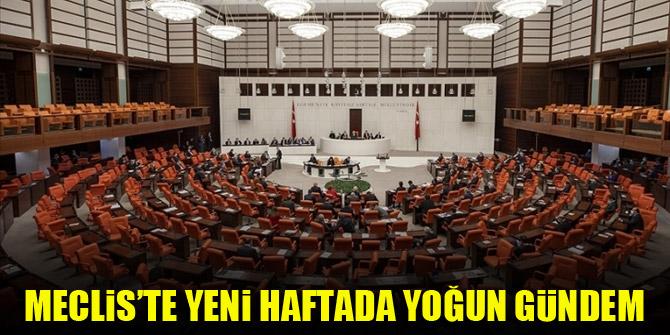 Meclis'te yeni haftada yoğun gündem