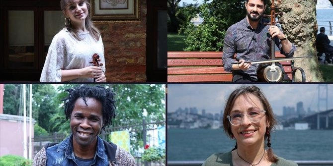 Foreign artists living in Turkey hold concert on World Refugee Day