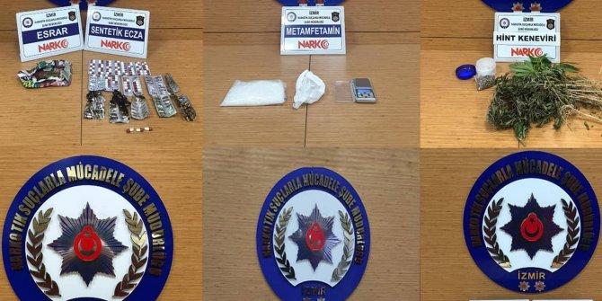 İzmir'de bir haftadaki uyuşturucu operasyonlarında 15 tutuklama