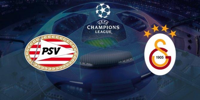 Galatasaray PSV Eindhoven'e konuk olacak