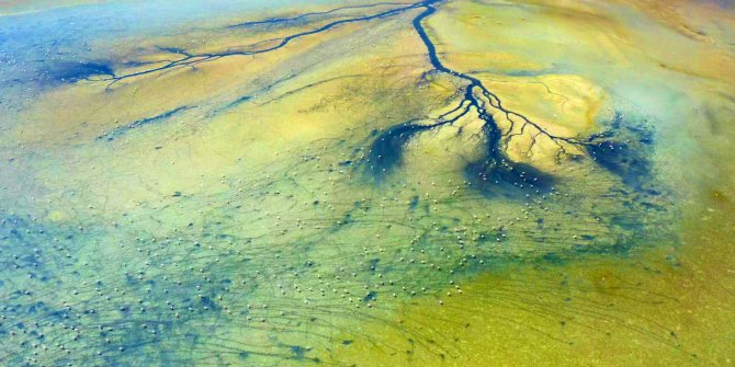 The vital veins of the dried Duden Lake appeared