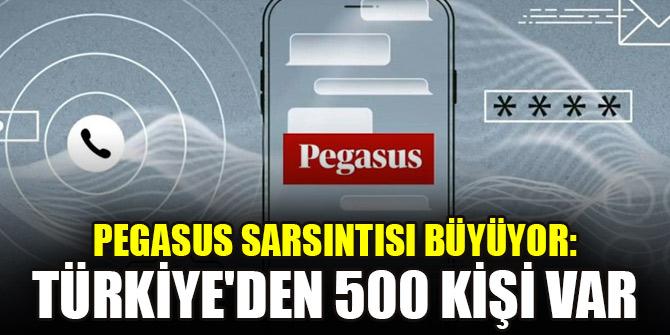 Pegasus sarsıntısı büyüyor: Türkiye'den 500 kişi var