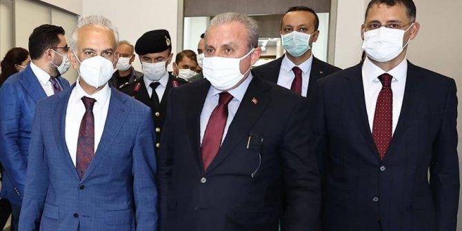 Turkish parliament speaker arrives in Azerbaijan for meeting, talks