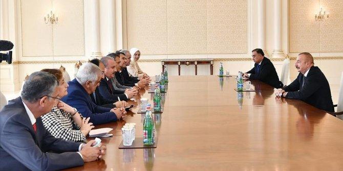 Turkey's parliament speaker meets Azerbaijani president in Baku