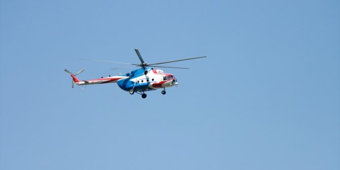 Bursa'da orman yangınlarına karşı helikopter destekli uygulama başlatılarak tedbirler alındı
