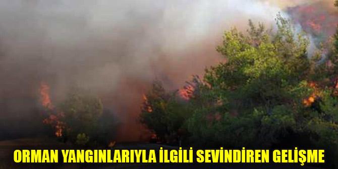 Orman yangınlarıyla ilgili sevindiren gelişme