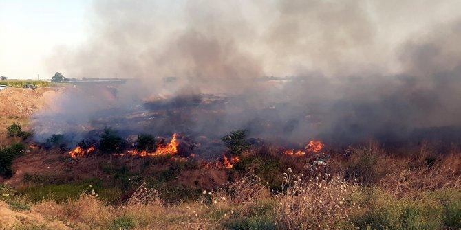 Otluk alanda çıkan yangın büyümeden söndürüldü