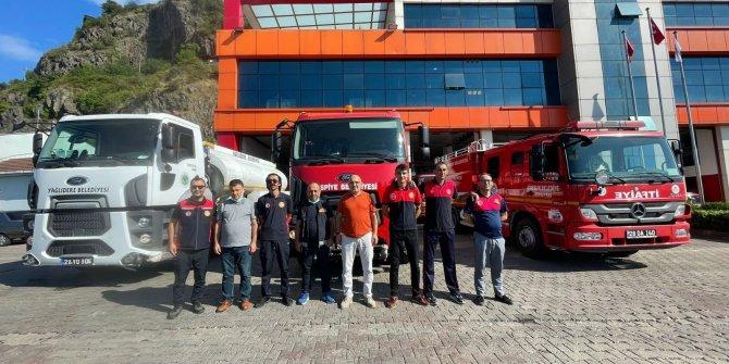 Giresun'dan Antalya'ya itfaiye aracı ve personel desteği