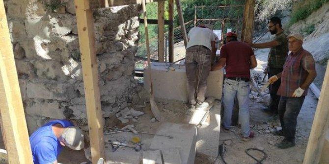 Kütahya Kalesi'nde restorasyon çalışmaları devam ediyor
