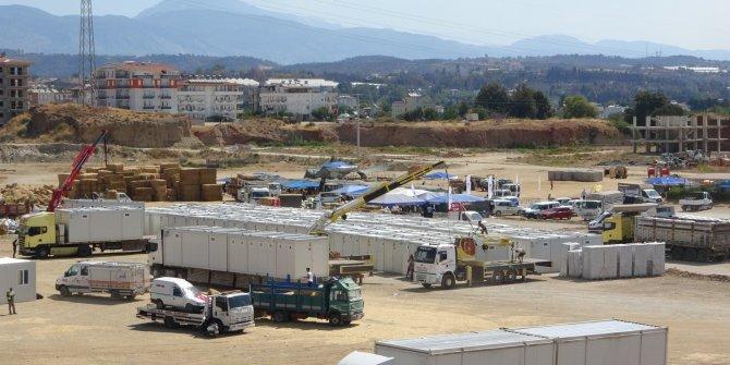 Evleri yananlara AFAD'dan konteyner ev
