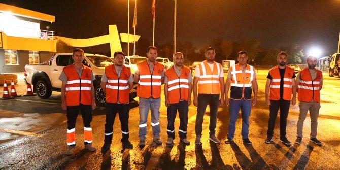 Büyükşehir ekipleri  Marmaris'te görevde