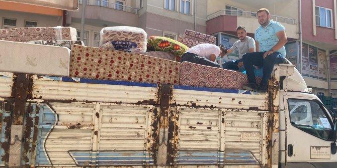 Bozkır'dan Manavgat'a  yardım kamyonu