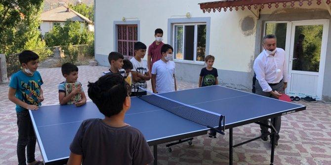 Seydişehir'de çocukların masa tenisi isteği yerine getirildi