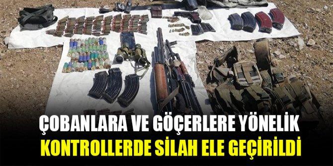 Çobanlara ve göçerlere yönelik kontrollerde silah ele geçirildi