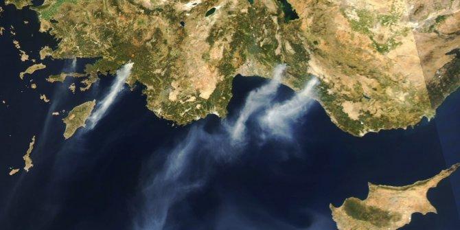 Köyceğiz yangının dumanları Rodos'a ulaştı