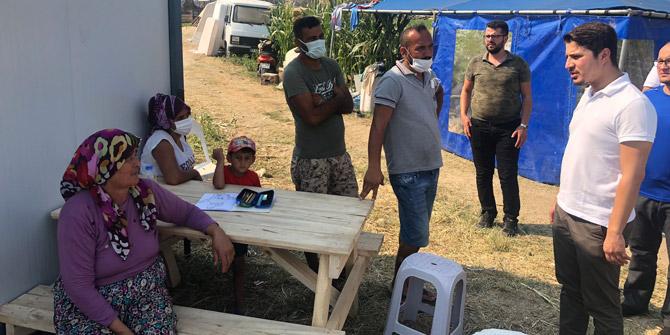 Selman Özboyacı Manavgat'ta köylülerle görüştü
