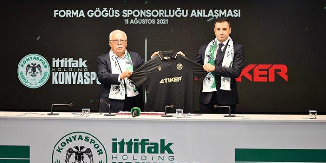 Konyaspor'un forma göğüs sponsoru Atiker oldu
