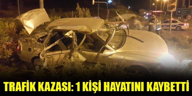 Trafik kazası: 1 kişi hayatını kaybetti