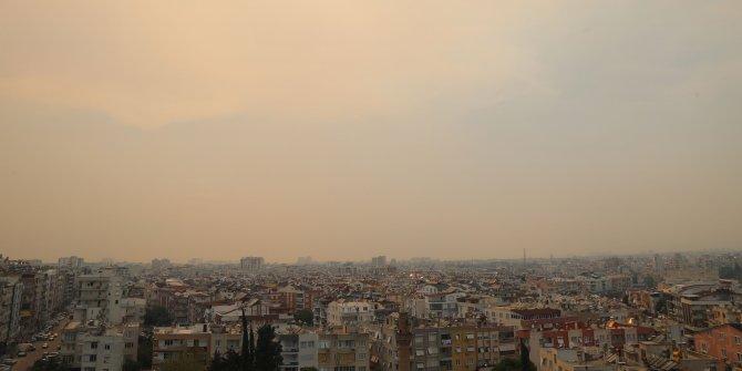 Orman yangınının külleri şehire ulaştı