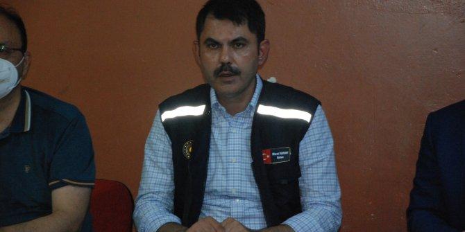 Bakan Kurum: Bartın'da metrekareye 318 kilogram yağış düştü