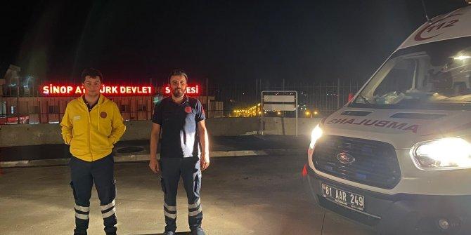 Sel bölgesine Düzce'de sağlık desteği