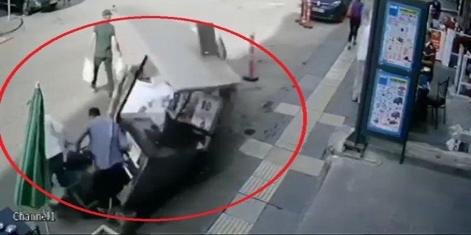 Ehliyetsiz kullandığı araçta fren yerine gaza bastı, 3 kişiyi yaraladı