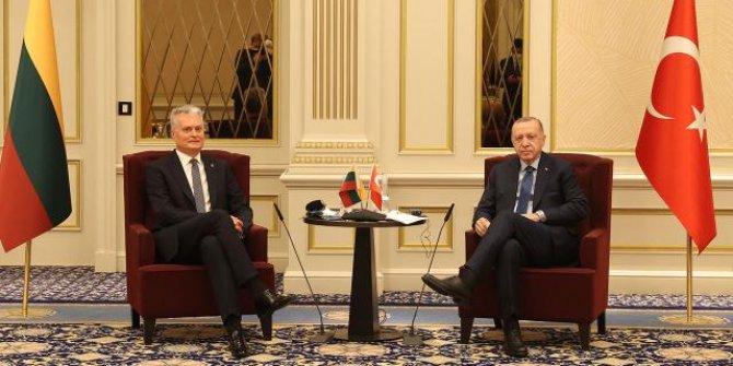 Erdoğan Litvanya Cumhurbaşkanı ile görüştü