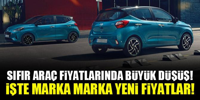 Sıfır araç fiyatlarında büyük düşüş! İşte marka marka yeni fiyatlar!