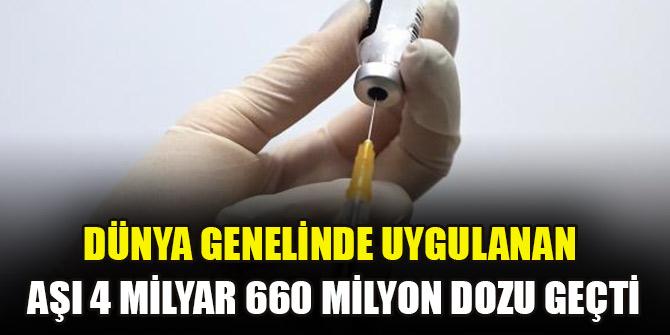 Dünya genelinde uygulanan aşı 4 milyar 660 milyon dozu geçti