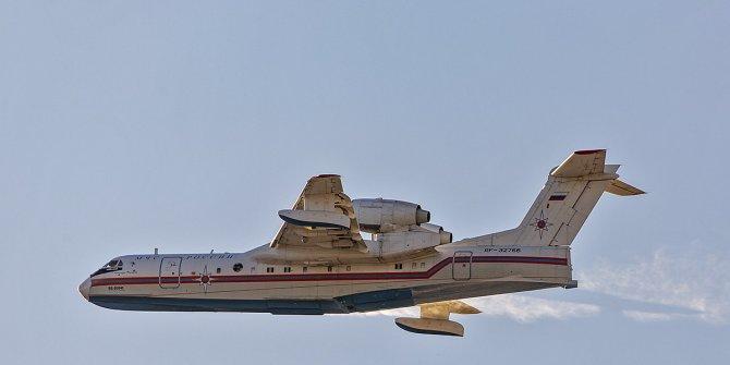 Rusya Savunma Bakanlığı: Be-200 uçağı iniş yaparken düştü
