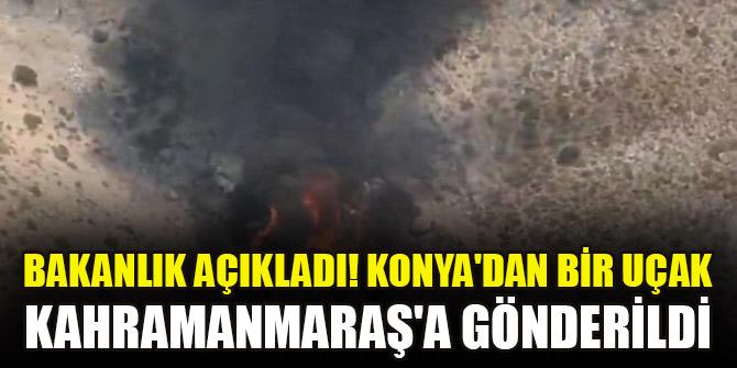 Bakanlık açıkladı! Konya'dan bir uçak Kahramanmaraş'a gönderildi