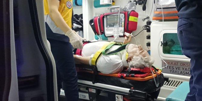 Asansör boşluğuna düşen bekçi yaralandı