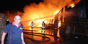 Konya'daki yangın üç saat sonra söndürüldü