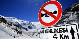 Rize Valiliğinden dağcılara ve vatandaşlara çığ riski uyarısı