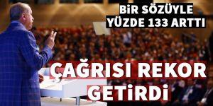 Erdoğan'ın çağrısı rekor getirdi! Yüzde 133 arttı