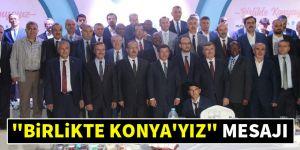 """""""Birlikte Konya'yız"""" iftar programı gerçekleştirildi"""