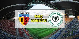 Kayserispor 2-1 Konyaspor | MAÇ SONUCU