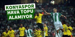 Konyaspor, hava topu alamıyor!