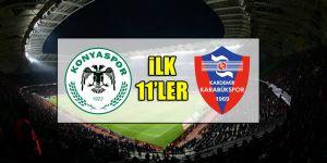 Konyaspor - Karabükspor | İLK 11'LER
