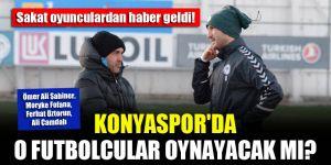 Konyaspor'da sakat oyunculardan haber geldi!