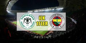 Atiker Konyaspor - Fenerbahçe | İLK 11'LER