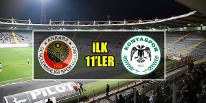 Gençlerbirliği - Atiker Konyaspor | İLK 11'LER